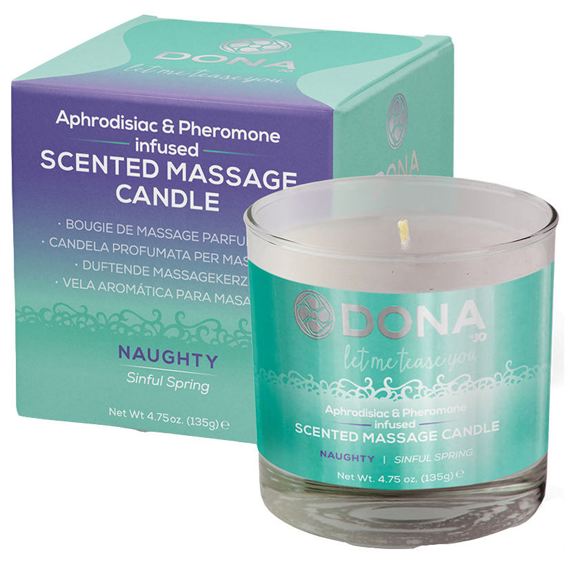 DONA Massage Candle Naughty-Sinful Spring 7.5oz