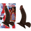 "Afro American Whoppers Flexible Dong-Brown 6.5"" - Godfather Adult Sex and Pleasure Toys"