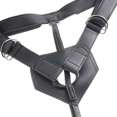 "King Cock Strap-on Harness w/ 7"" Cock - Flesh - Godfather Adult Sex and Pleasure Toys"