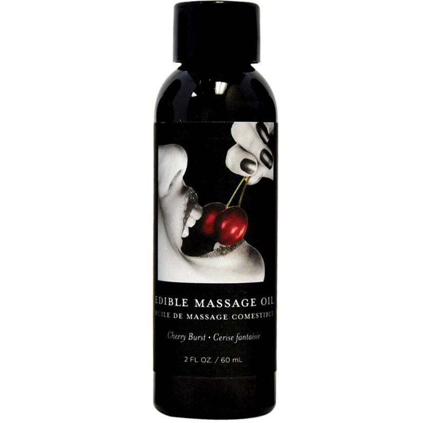 Earthly Body Edible Massage Oil - Gushing Grapes 2oz