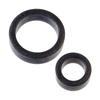 Platinum Premium Silicone - The C-Rings - Charcoal - Godfather Adult Sex and Pleasure Toys