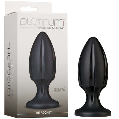 Platinum Premium Silicone - The Rocket - Black - Godfather Adult Sex and Pleasure Toys