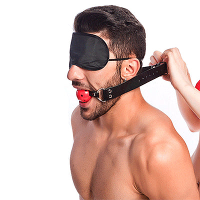 Ball Gag Pleasure Set-Purple - Godfather Adult Sex and Pleasure Toys