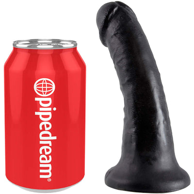 "King Cock  6"" Cock - Black - Godfather Adult Sex and Pleasure Toys"