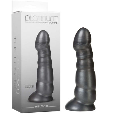 Platinum Premium Silicone - The Legend - Charcoal - Godfather Adult Sex and Pleasure Toys