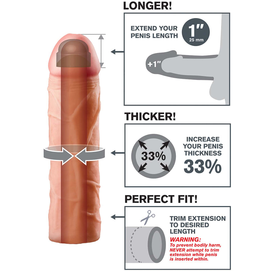 "Fantasy X-tensions Perfect 1"" Extension - Godfather Adult Sex and Pleasure Toys"