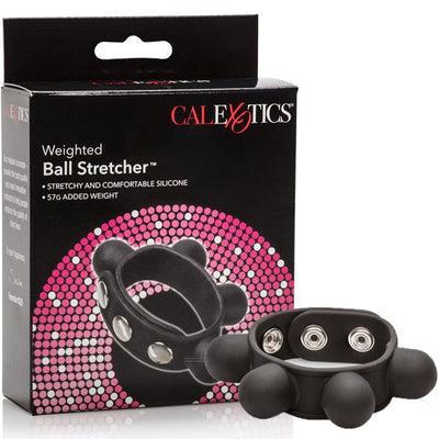 Weighted Ball Stretcher-Black - Godfather Adult Sex and Pleasure Toys