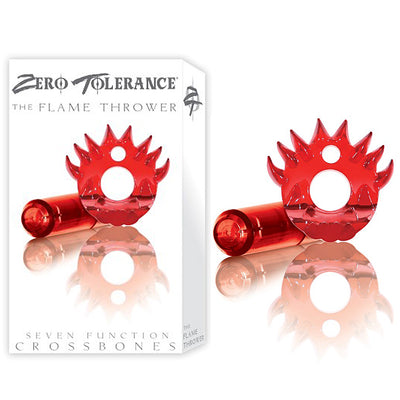 Zero Tolerance Crossbones The Flame Thrower-Red (Single Bullet) - Godfather Adult Sex and Pleasure Toys