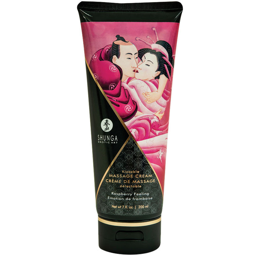 Shunga Kissable Massage Cream - Raspberry Filling 7oz