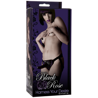 Black Rose - Harness Your Desire (Vac-U-Lock set) - Godfather Adult Sex and Pleasure Toys