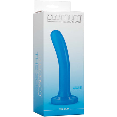 Platinum Premium Silicone - The Slim - Blue - Godfather Adult Sex and Pleasure Toys