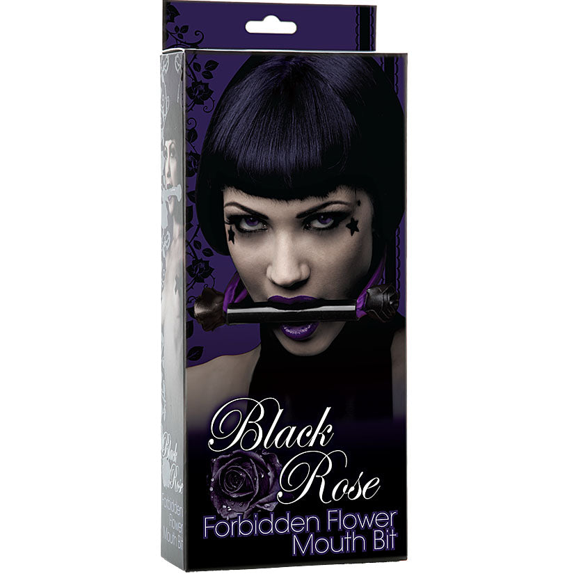 Black Rose - Forbidden Flower Mouth Bit - Godfather Adult Sex and Pleasure Toys