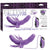 Fetish Fantasy Elite Vibrating Double Delight Strap-On - Purple