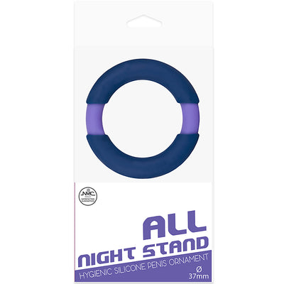 All Night Stand Silicone Penis Ring 37mm-Purple/Blue - Godfather Adult Sex and Pleasure Toys