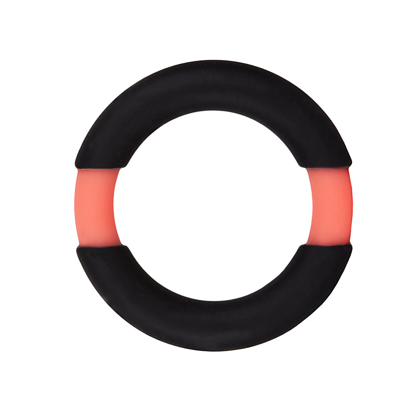 All Night Stand Silicone Penis Ring 37mm-Orange/Black