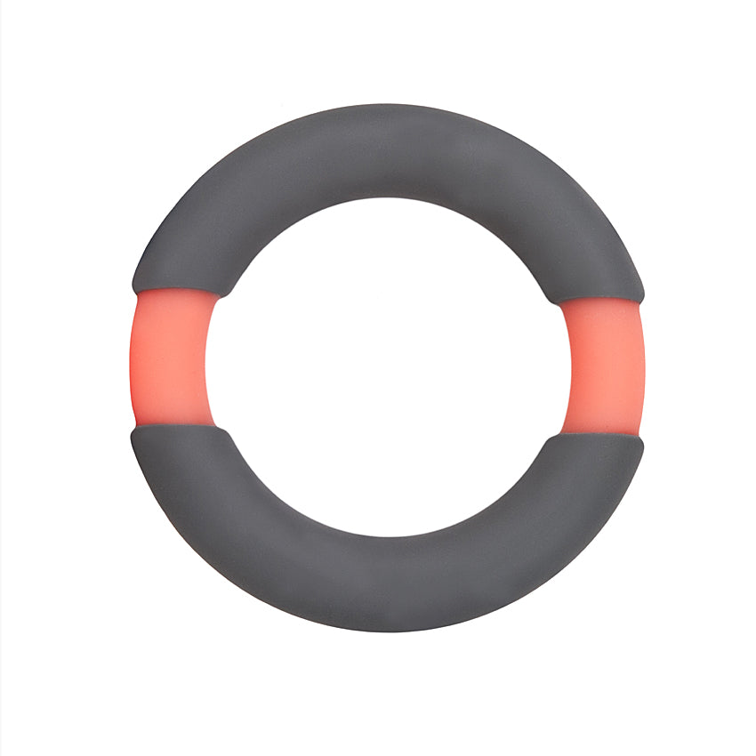 All Night Stand Silicone Penis Ring 42mm-Orange/Gray