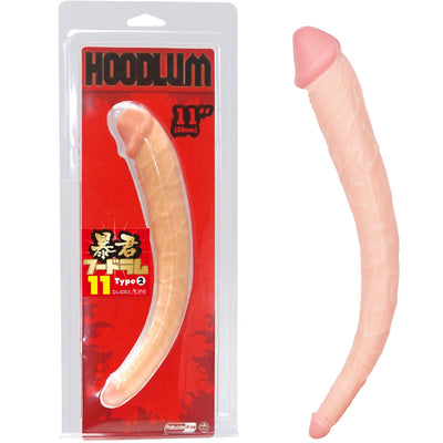 "Hoodlum Double Dildo 11""-Flesh - Godfather Adult Sex and Pleasure Toys"