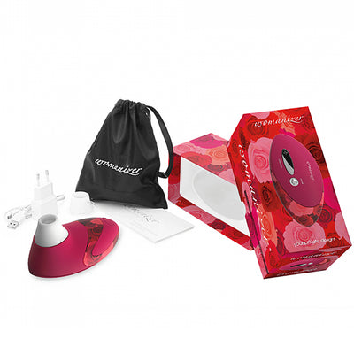 Womanizer Deluxe (W500) Special Edition-Red Roses - Godfather Adult Sex and Pleasure Toys