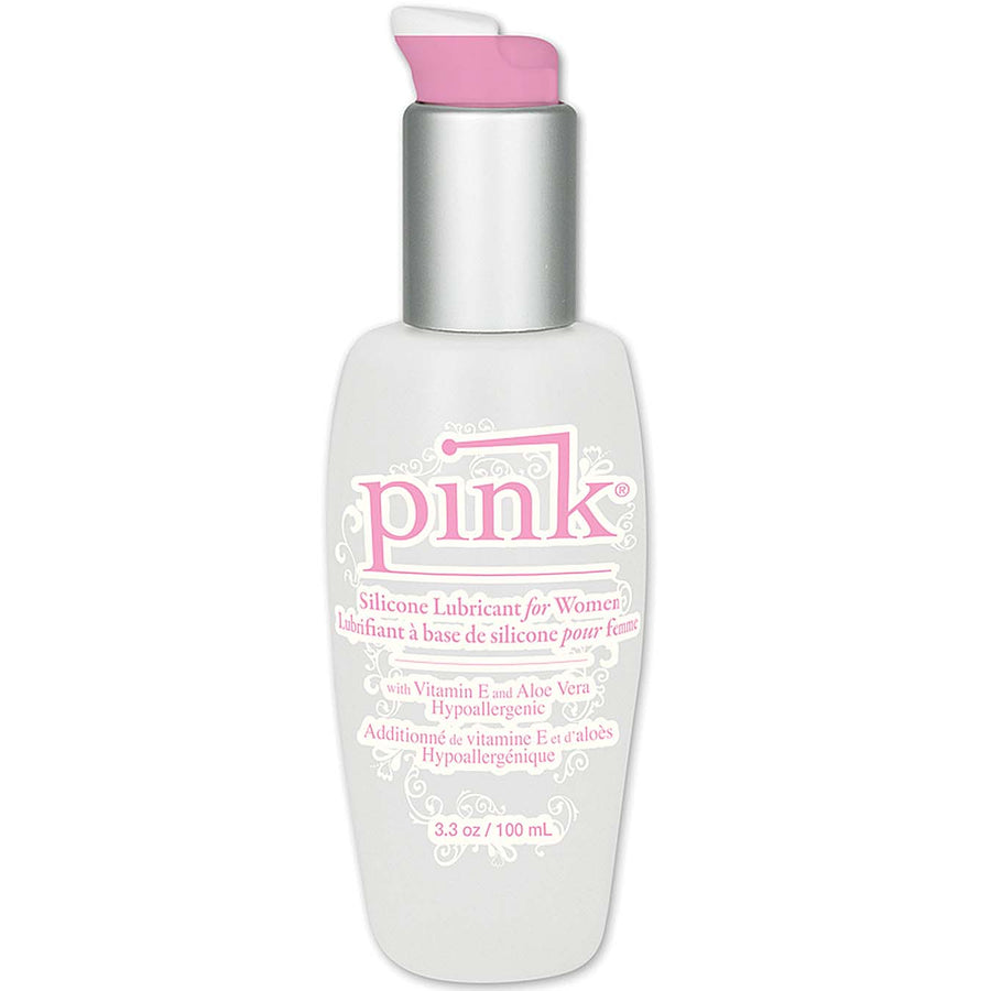 Pink Silicone Lubricant For Women 3.3oz / 100ml - Godfather Adult Sex and Pleasure Toys