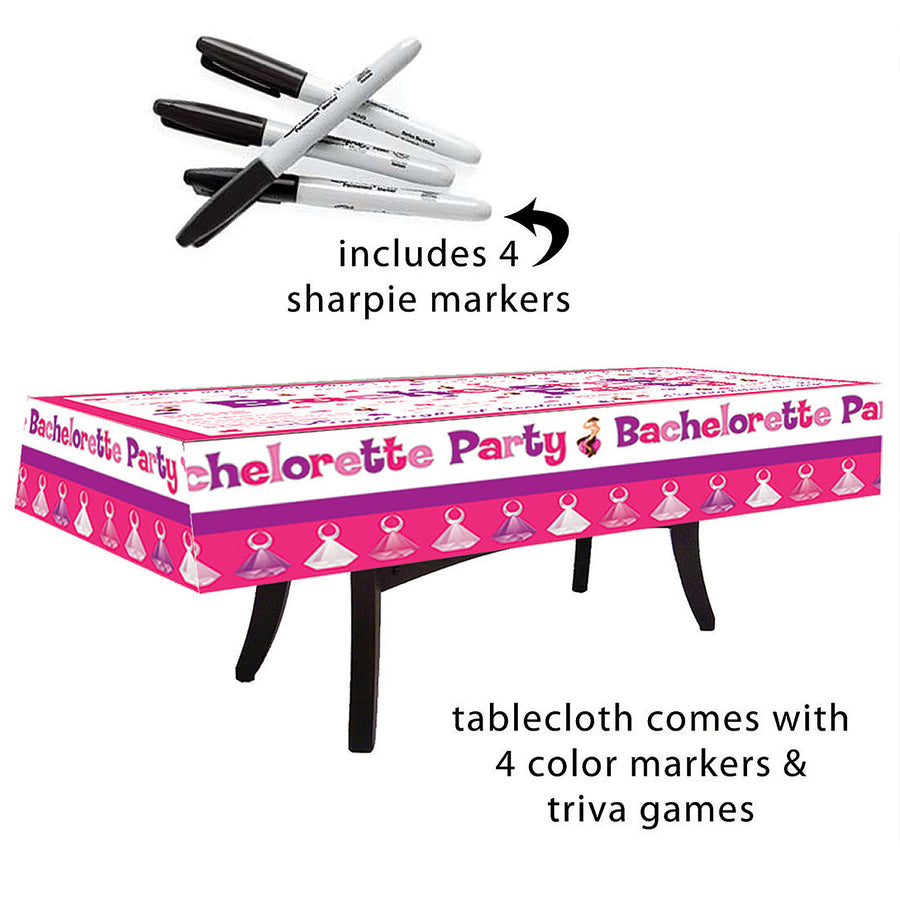 Bachelorette Party Table Cloth - Godfather Adult Sex and Pleasure Toys