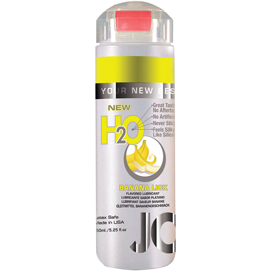 JO Flavored H2o-Banana Lick 5.25oz - Godfather Adult Sex and Pleasure Toys