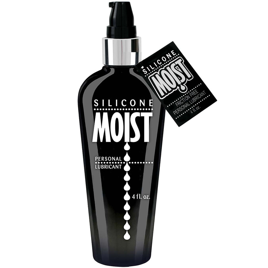 Moist Silicone Personal Lubricant 4oz - Godfather Adult Sex and Pleasure Toys