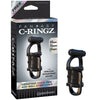Fantasy C-Ringz Vibrating Cock Pipe With Ball-Stretcher - Black - Godfather Adult Sex and Pleasure Toys