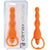 Climax Silicone Vibrating Bum Beads - Orange