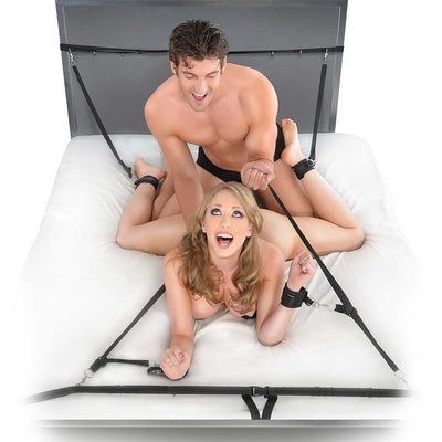 Fetish Fantasy Series  Ultimate Bed Restraint System - Godfather Adult Sex and Pleasure Toys