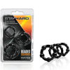 Stay Hard Beaded Cockrings-Black (3 Pack) - Godfather Adult Sex and Pleasure Toys