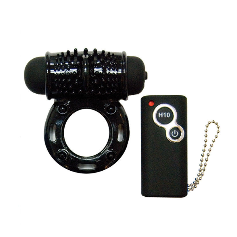 Hero Remote Control Wireless Cockring-Black - Godfather Adult Sex and Pleasure Toys