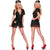Hustler Lingerie 2Pc Black Nurse Set