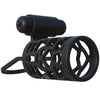 Fantasy C-Ringz Thick Dick Silicone Vibrating Cage - Black - Godfather Adult Sex and Pleasure Toys