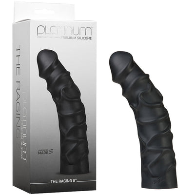 "Platinum Premium Silicone - The Raging 8"" - Black - Godfather Adult Sex and Pleasure Toys"