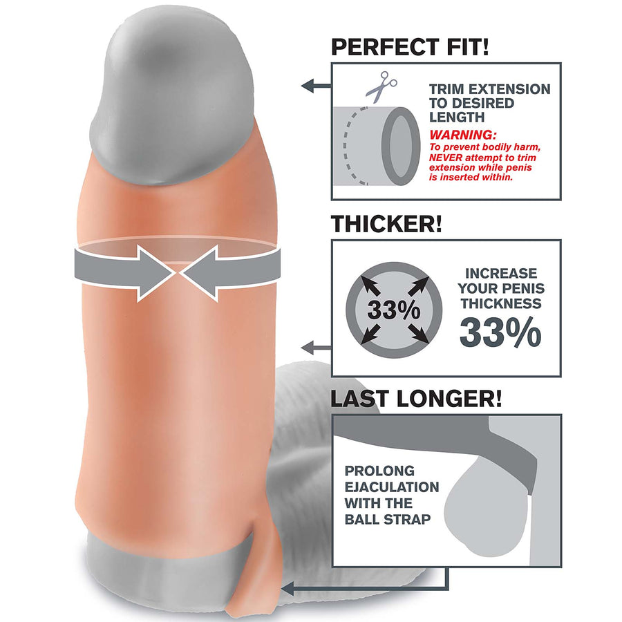 "Fantasy X-tensions Real Feel Enhancer 7"" - Godfather Adult Sex and Pleasure Toys"