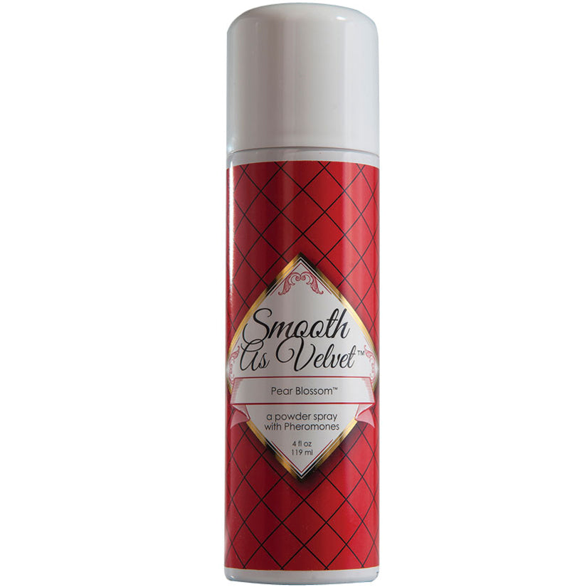 Smooth As Velvet Spray Talc with Pheromone - Pear Blossom - Godfather Adult Sex and Pleasure Toys