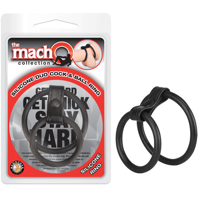 Macho Collection Duo Cock & Ball Ring - Godfather Adult Sex and Pleasure Toys