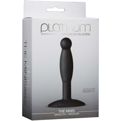 Platinum Premium Silicone - The Mini's - Smooth Medium - Black - Godfather Adult Sex and Pleasure Toys