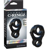 Fantasy C-Ringz Ironman Triple Ring Black - Godfather Adult Sex and Pleasure Toys