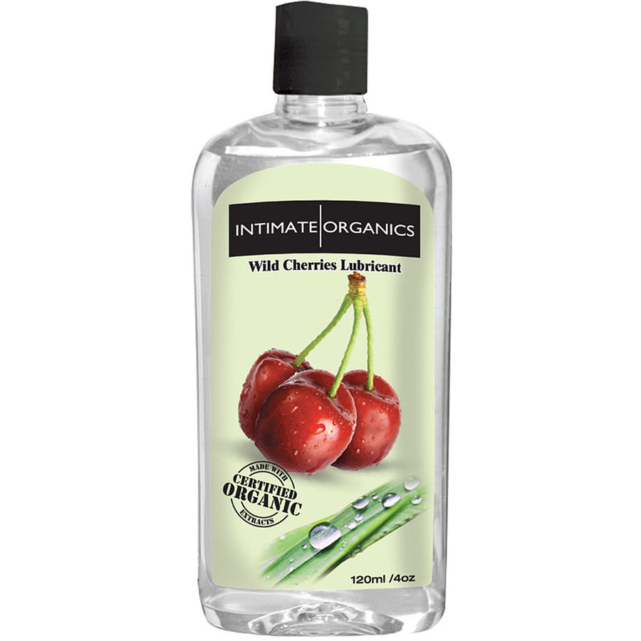 Intimate Organics Wild Cherries Warming Glide 4oz - Godfather Adult Sex and Pleasure Toys