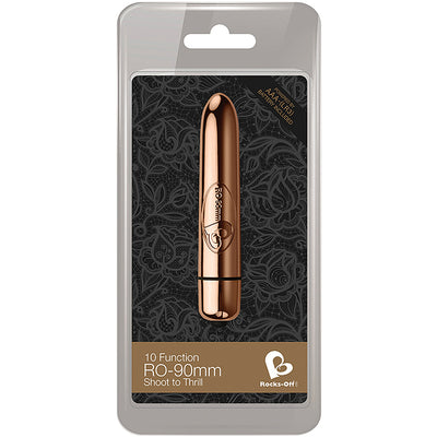 RO90mm 10 Speed-Rose Gold - Godfather Adult Sex and Pleasure Toys