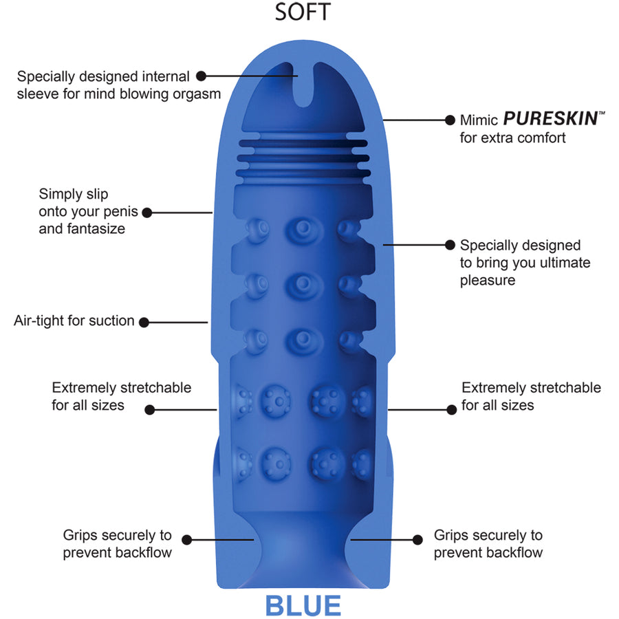 Dream Rocket BLUE - Godfather Adult Sex and Pleasure Toys