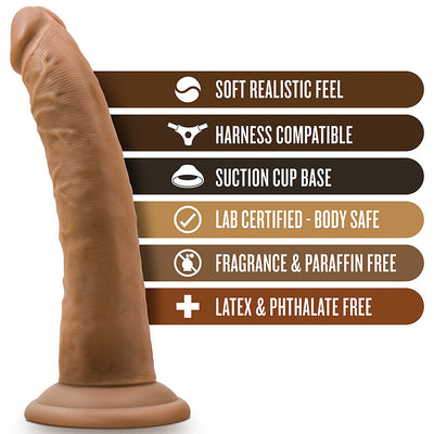 "Blush Novelties - Dr. Skin Cock With Suction Cup - 7"" Mocha"