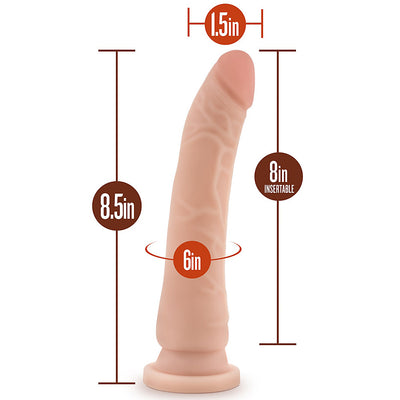 "Blush Novelties - Dr. Skin Cock With Suction Cup - 8.5"" Beige"