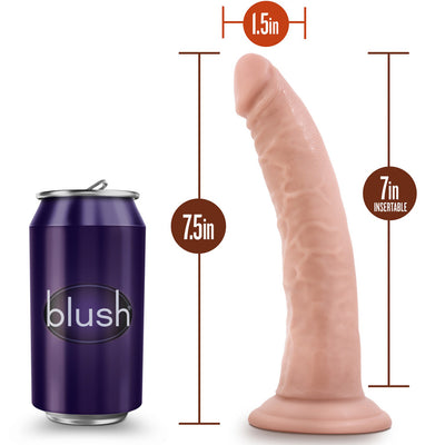 "Blush Novelties - Dr. Skin Cock with Suction Cup - 7"" Vanilla"