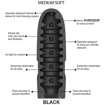 Dream Rocket BLACK - Godfather Adult Sex and Pleasure Toys