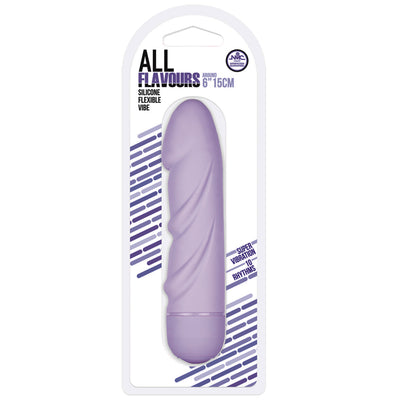 "All Flavors Silicone Flexible Vibe 6""-Purple - Godfather Adult Sex and Pleasure Toys"