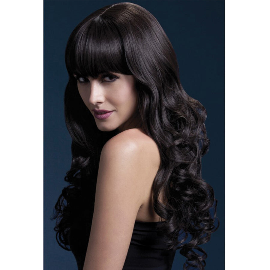 "Isabelle Wig Soft Curl With Fringe - 26"" Brown"