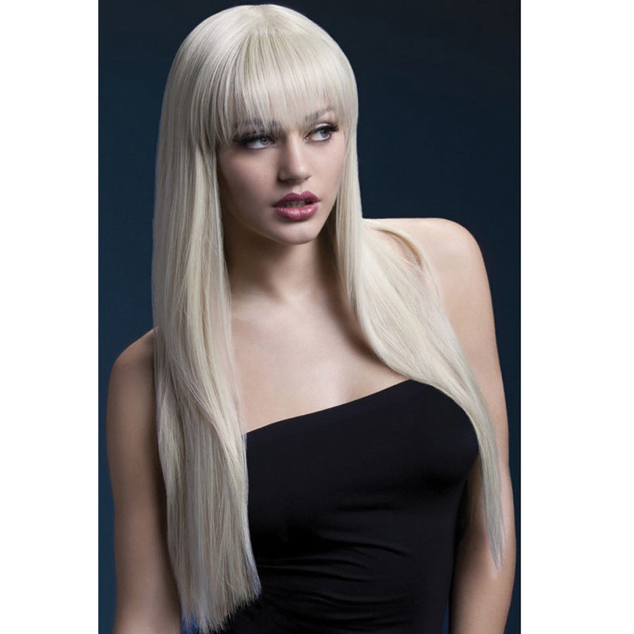 "Jessica Wig Long Straight with Fringe - 26"" Blonde"