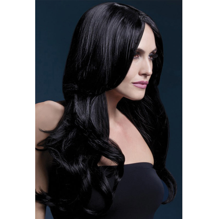 "Khloe Wig Long Wave & Center Part - 26"" Black"